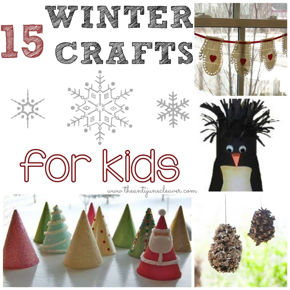 Best ideas about Winter Craft For Kids . Save or Pin 15 Winter Crafts for Kids Now.