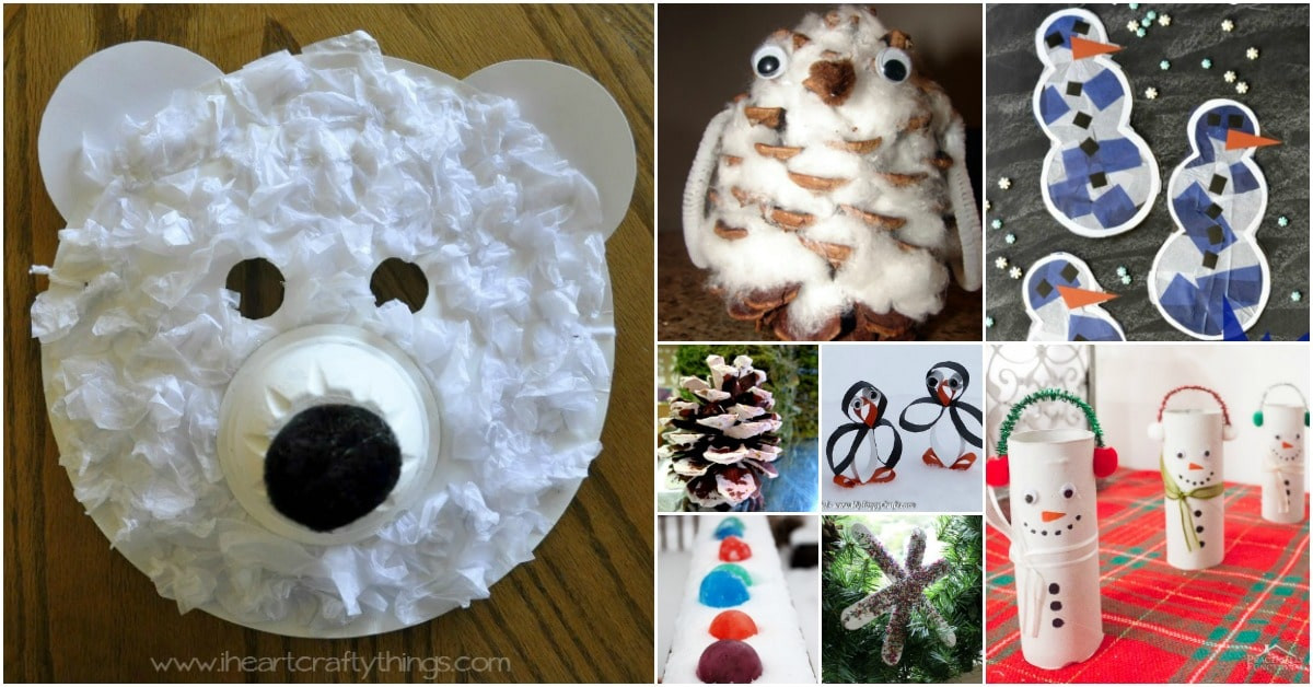 Best ideas about Winter Craft For Kids . Save or Pin 30 Fun Winter Crafts To Keep Your Kids Busy Indoors When Now.