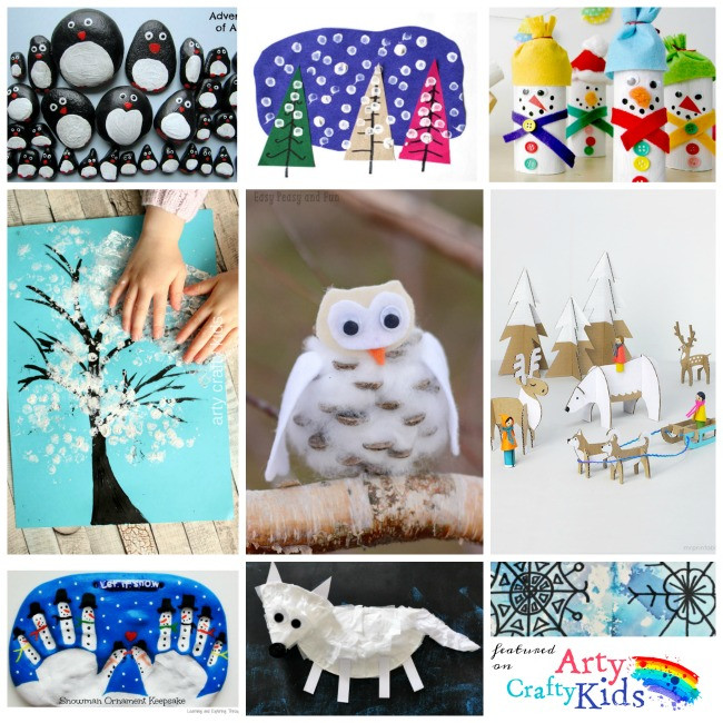 Best ideas about Winter Craft For Kids . Save or Pin 16 Easy Winter Crafts for Kids Arty Crafty Kids Now.