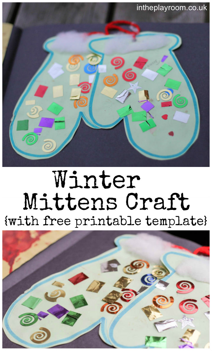 Best ideas about Winter Craft Ideas For Preschoolers . Save or Pin Winter Mittens Craft In The Playroom Now.