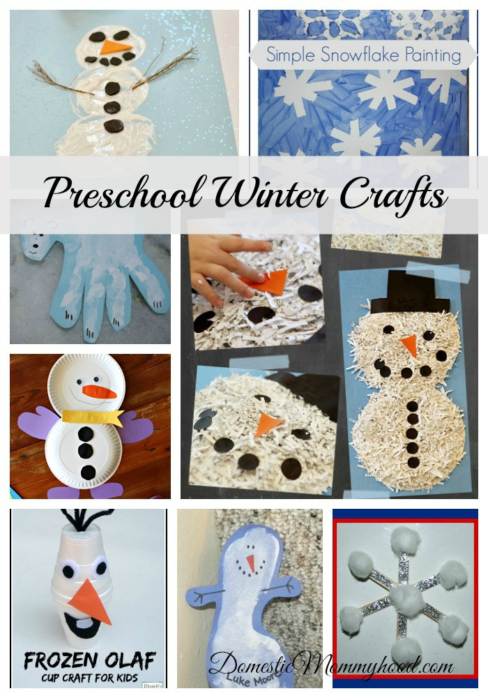 Best ideas about Winter Craft Ideas For Preschoolers . Save or Pin Preschool Winter Crafts Domestic Mommyhood Now.