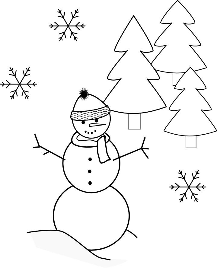 Winter Wonderland Coloring Pages  Becca Allred Graphics Winter Wonderland