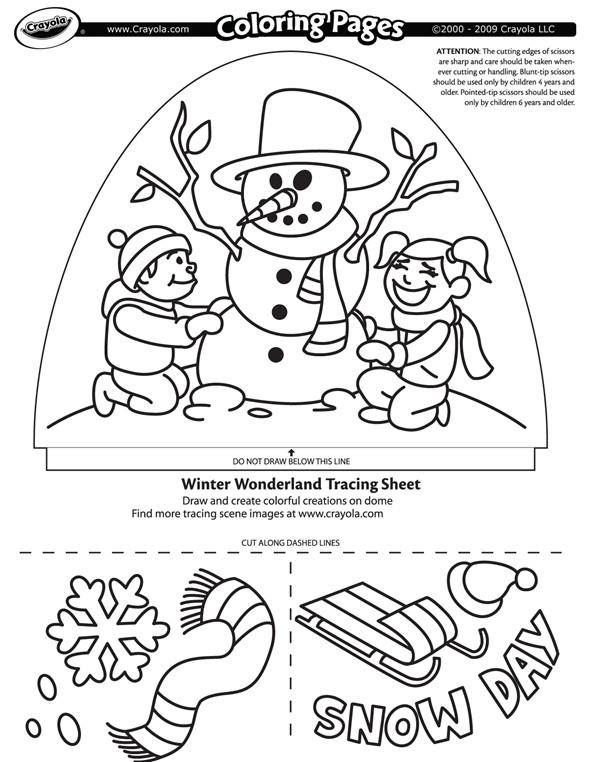Winter Wonderland Coloring Pages  Winter Wonderland