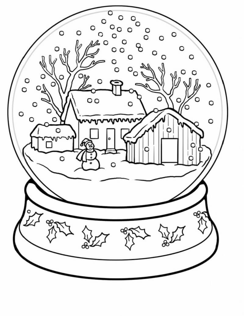 Winter Wonderland Coloring Pages  Free Printable Winter Coloring Pages