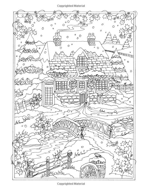 Winter Wonderland Coloring Pages  Amazon Creative Haven Winter Wonderland Coloring Book