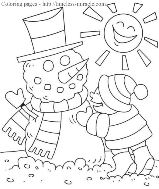 Winter Wonderland Coloring Pages  Winter wonderland coloring pages timeless miracle