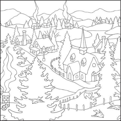 Winter Wonderland Coloring Pages  Winter Wonderland Coloring Pages to Pin on