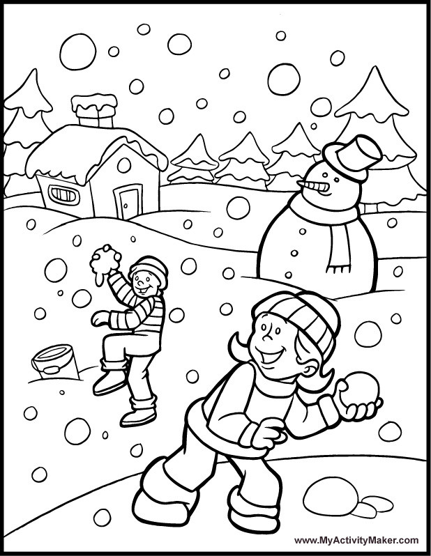 Winter Wonderland Coloring Pages  Winter Coloring Pages Free AZ Coloring Pages