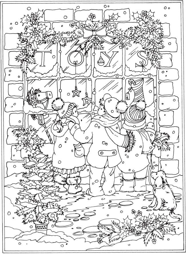 Winter Wonderland Coloring Pages  Wel e to Dover Publications From Creative Haven Winter