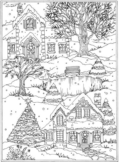 Winter Wonderland Coloring Pages  22 Christmas Coloring Books to Set the Holiday Mood
