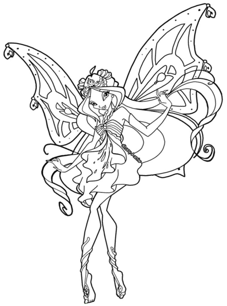 Winx Coloring Pages For Kids  Winx Club Coloring Pages