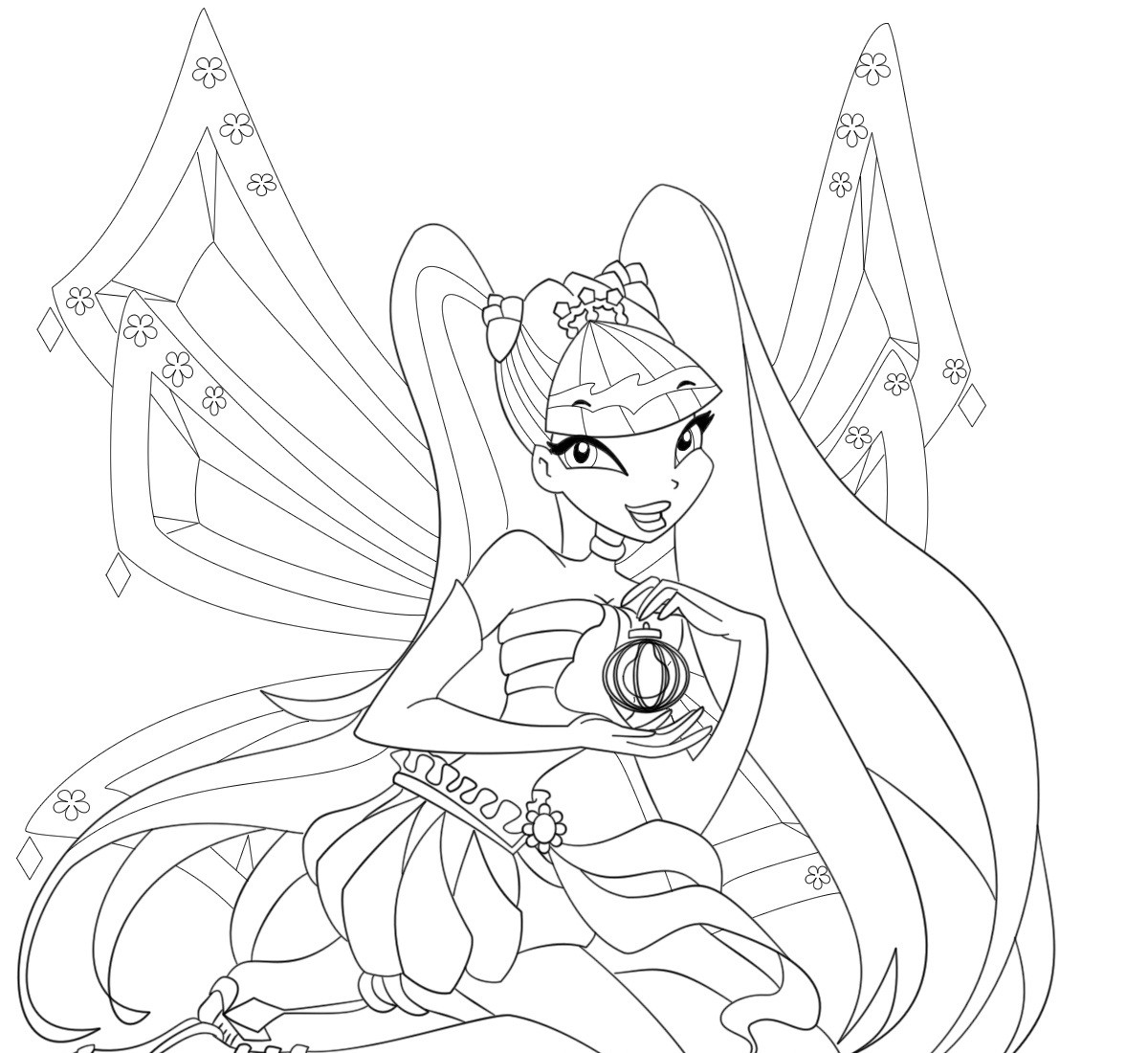 Winx Coloring Pages For Kids  Free Printable Winx Club Coloring Pages For Kids