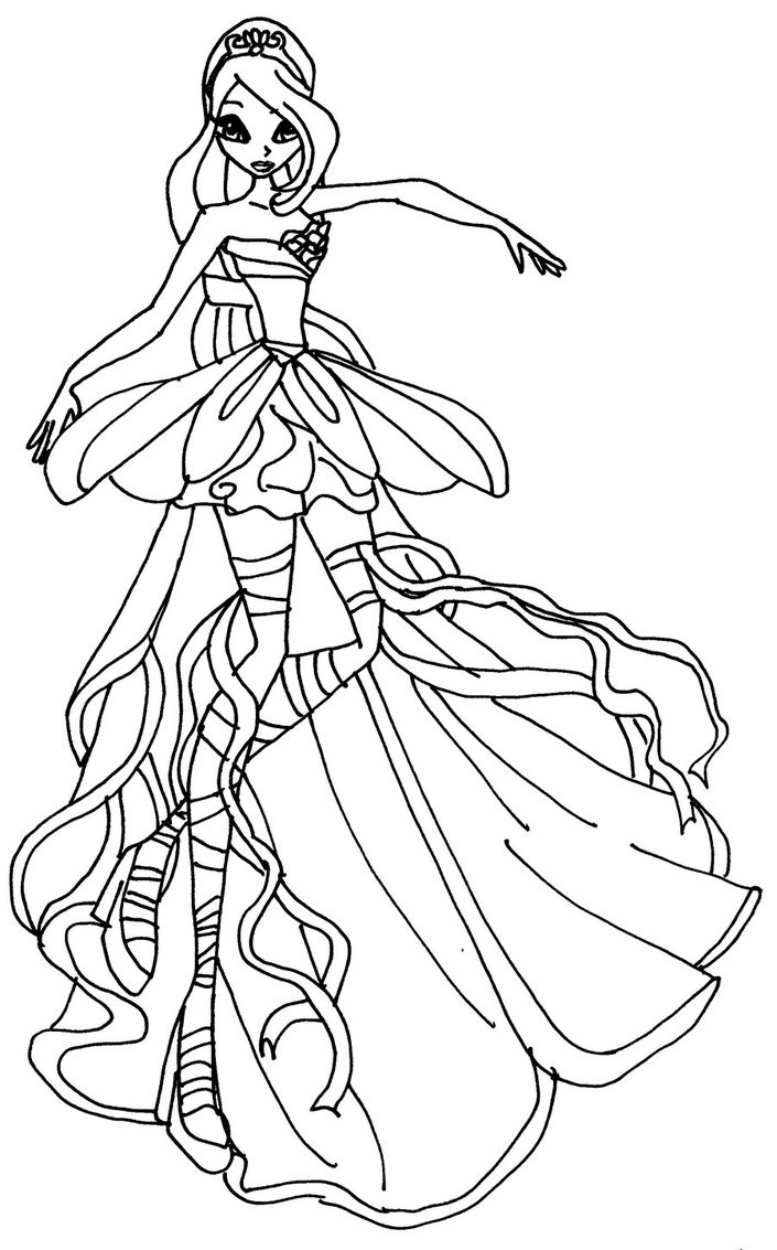 Winx Coloring Pages For Kids  Winx Coloring Pages coloringsuite