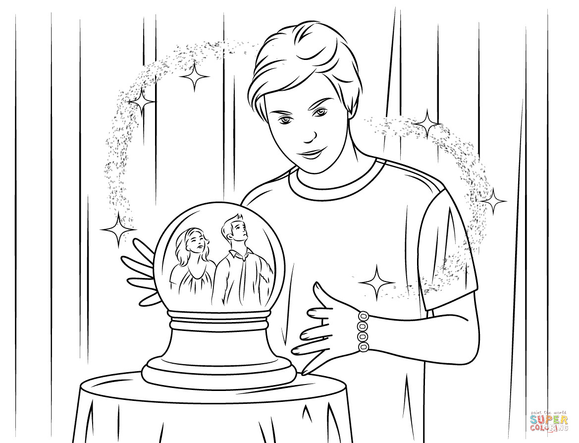 Wizards Of Waverly Place Printable Coloring Pages  Disegno di Max Russo dei maghi di Waverly da colorare
