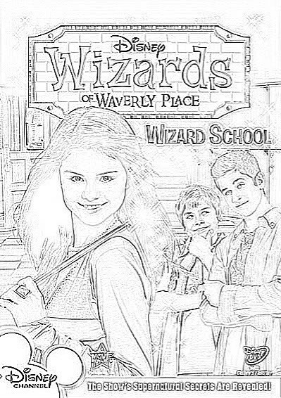 Wizards Of Waverly Place Printable Coloring Pages  Get Free Wizards of Waverly Place Coloring Pages
