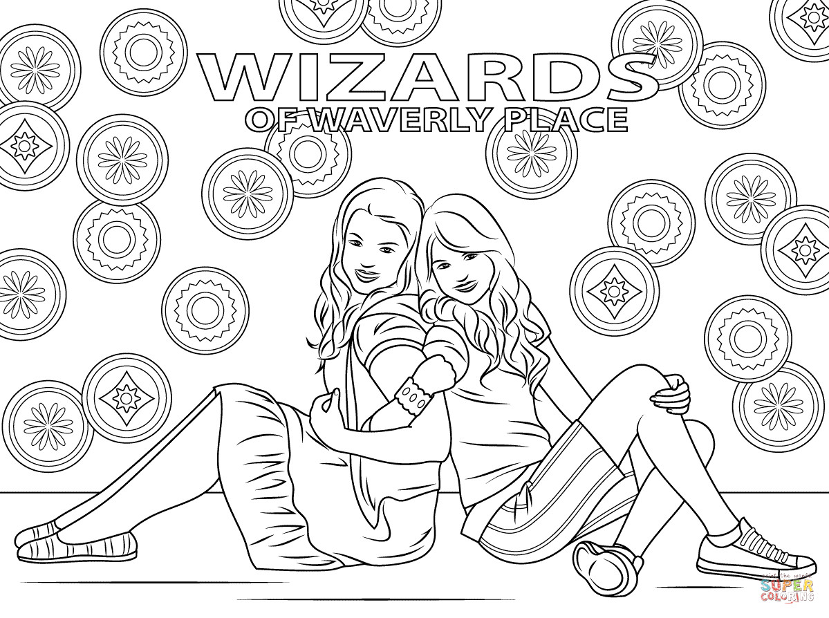 Wizards Of Waverly Place Printable Coloring Pages  Wizards Waverly Place Coloring Pages For Kids