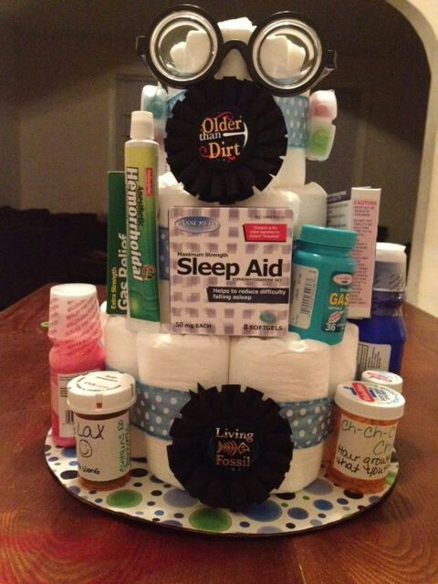 Woman Birthday Gift Ideas  Over the hill diaper cake Get Caked Up