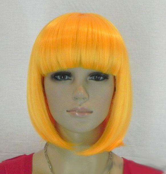 Women'S Bob Haircuts  Hot Sell Fashion Short Yellow Straight Bangs Bob Women s