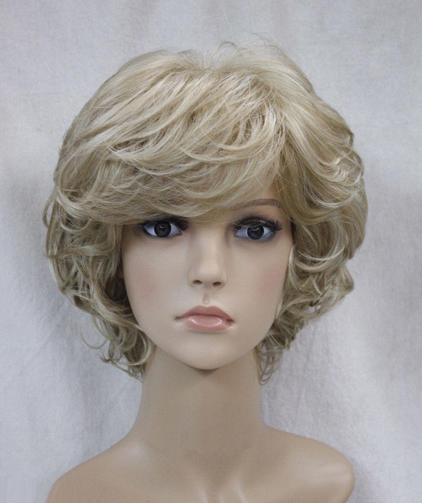 Women'S Bob Haircuts  Hot Sell New Fashion Short Blonde Wavy Curly Women s Lady