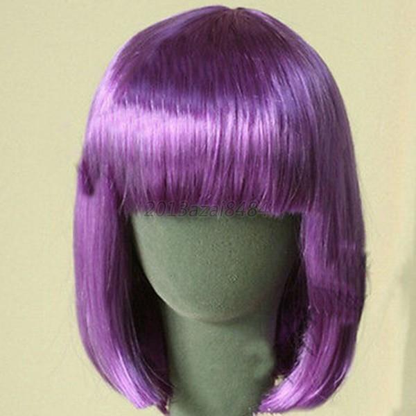 Women'S Bob Haircuts  Women s Lady y Short BOB Hair Wig With Straight Bangs