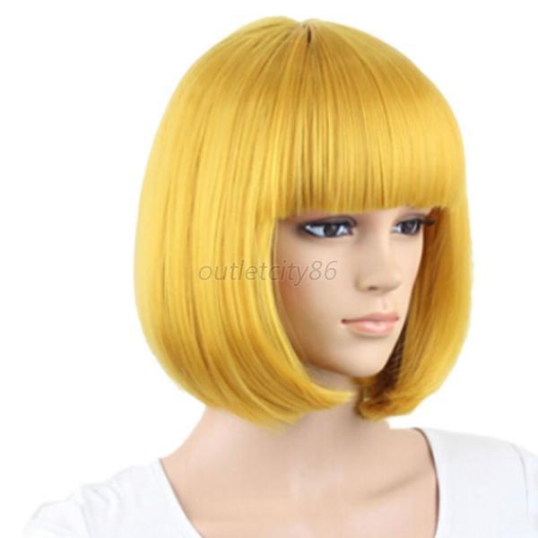 Women'S Bob Haircuts  New BOB Style Women s y Full Bangs Wigs Short Wig