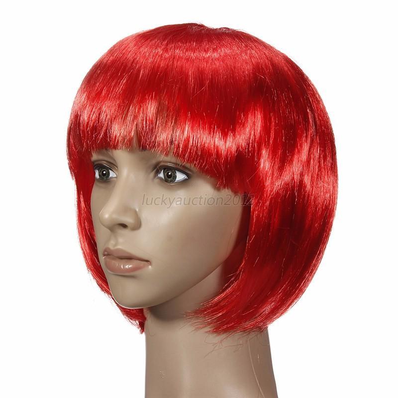 Women'S Bob Haircuts  Vogue Women s y Full Bangs Short Straight Wig BOBO