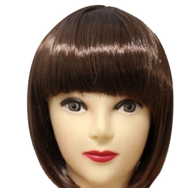 Women'S Bob Haircuts  Women s y Short BOB Hair Wig With Straight Bangs