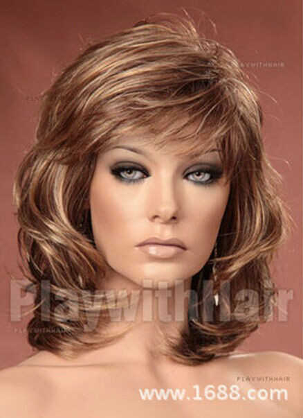 Best ideas about Women'S Medium Haircuts . Save or Pin Fashion wig New Charm women s Medium Long Brown Blonde Now.