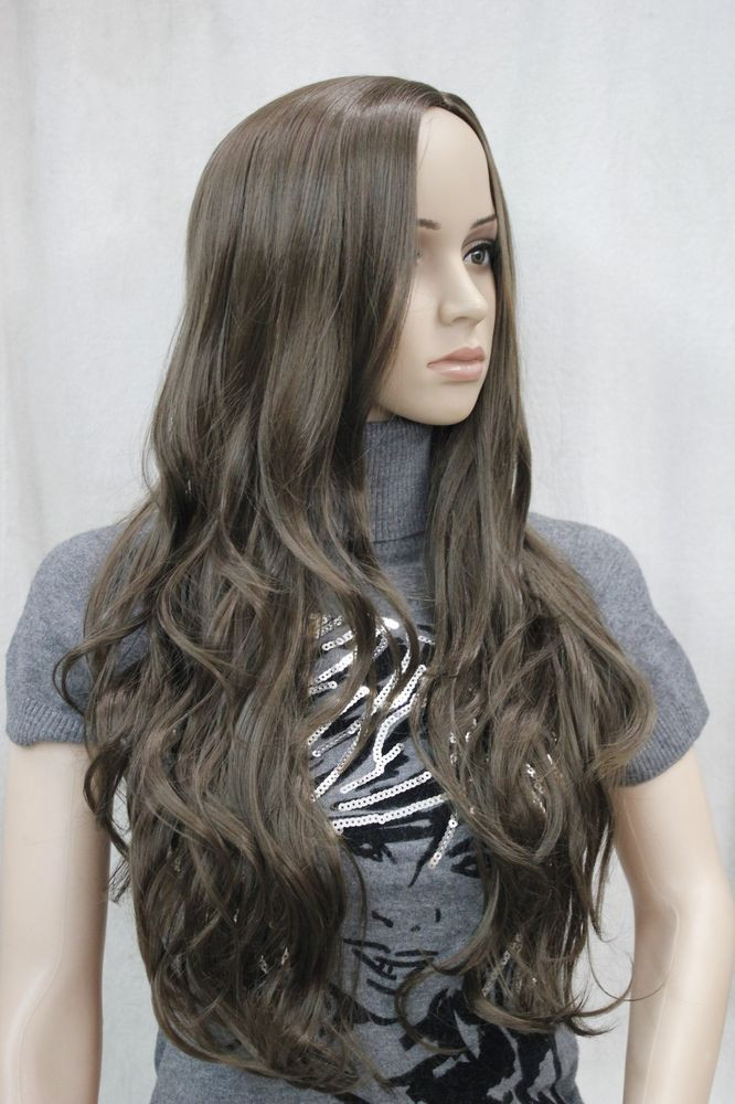 Best ideas about Women'S Medium Haircuts . Save or Pin No bangs medium brown long wavy side skin part top Now.