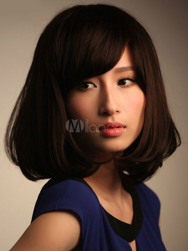 Best ideas about Women'S Medium Haircuts . Save or Pin Real hair Fashion wig New Women s Medium Long Dark Now.