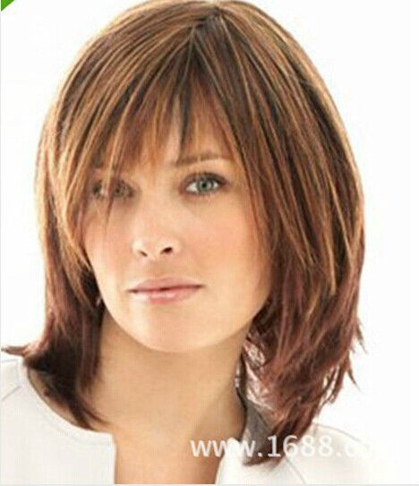 Best ideas about Women'S Medium Haircuts . Save or Pin Hot Fashion wig New Charm women s Medium long Brown Now.