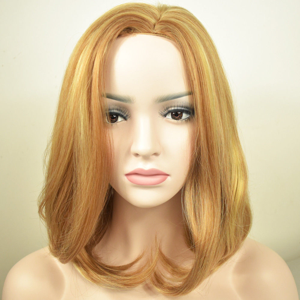 Best ideas about Women'S Medium Haircuts . Save or Pin La s Curly Mixed Blonde Medium Hair Natural Women s Wigs Now.