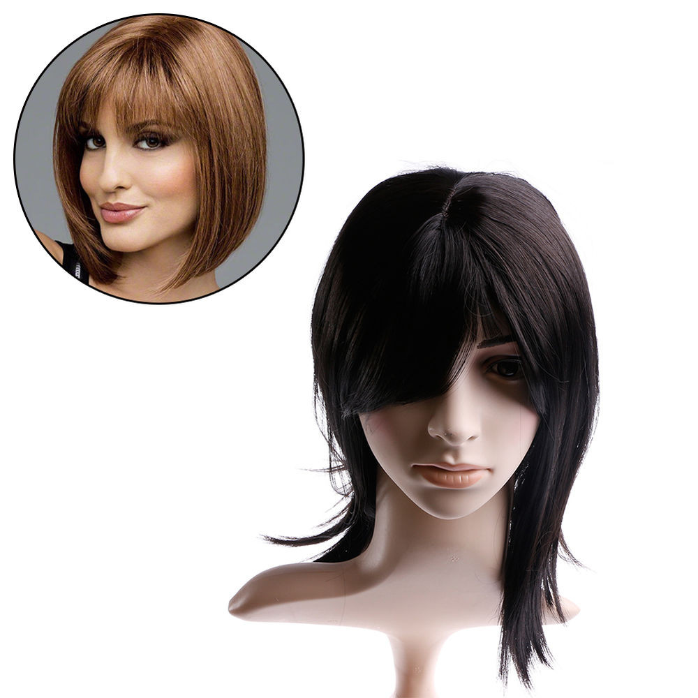Best ideas about Women'S Medium Haircuts . Save or Pin Fashion Women s wigs Full Wig Natural Medium Straight bobo Now.