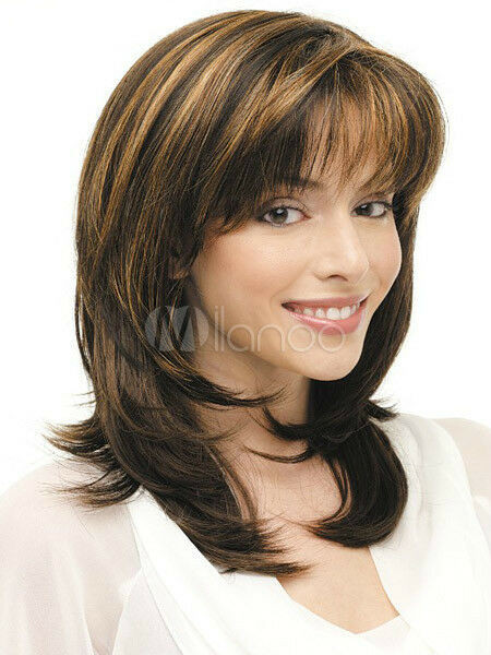 Best ideas about Women'S Medium Haircuts . Save or Pin Hot Style Fashion wig New Charm Women s Medium long Brown Now.