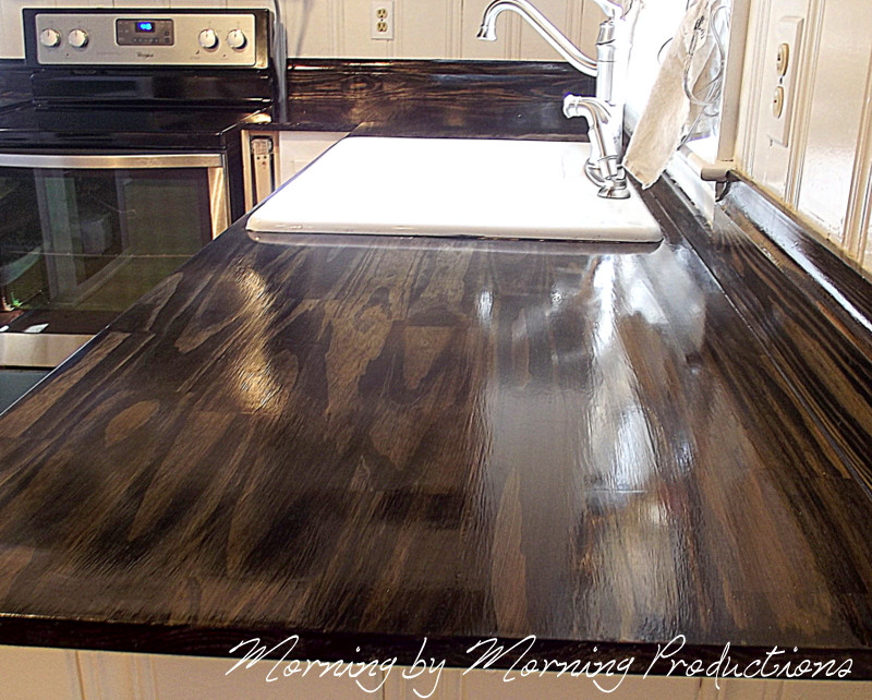 Wood Countertops DIY  Morning by Morning Productions DIY Kitchen Countertops