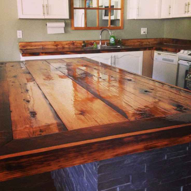 Wood Countertops DIY  Rustic Wood Countertops For Kitchens