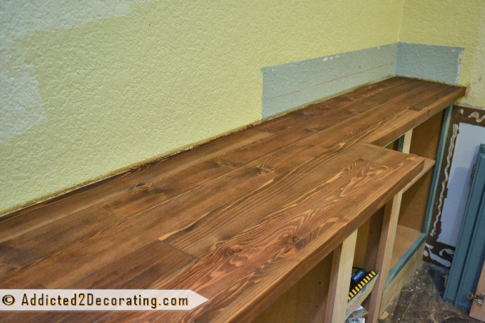 Wood Countertops DIY  My DIY Wood Countertop Is Finished well…almost