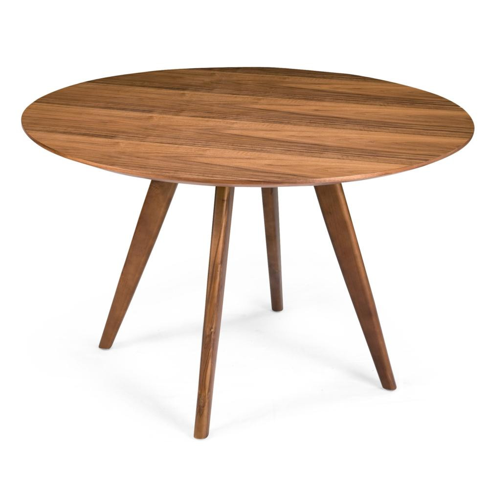 Best ideas about Wood Dining Table . Save or Pin Dover 47″ Round Solid Wood Dining Table in Walnut Now.