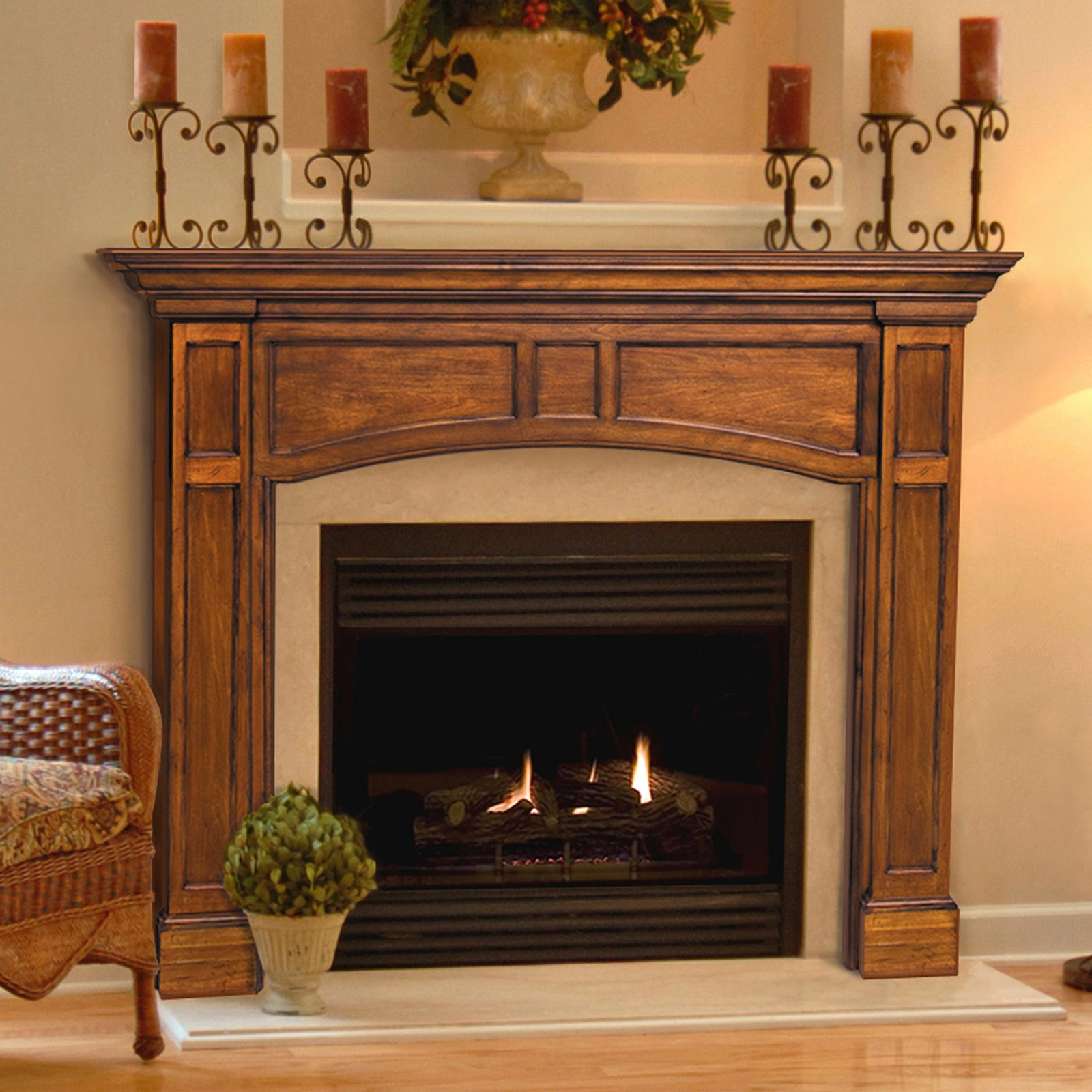 Best ideas about Wood Fireplace Mantels . Save or Pin Pearl Mantels Vance Wood Fireplace Mantel Surround Now.