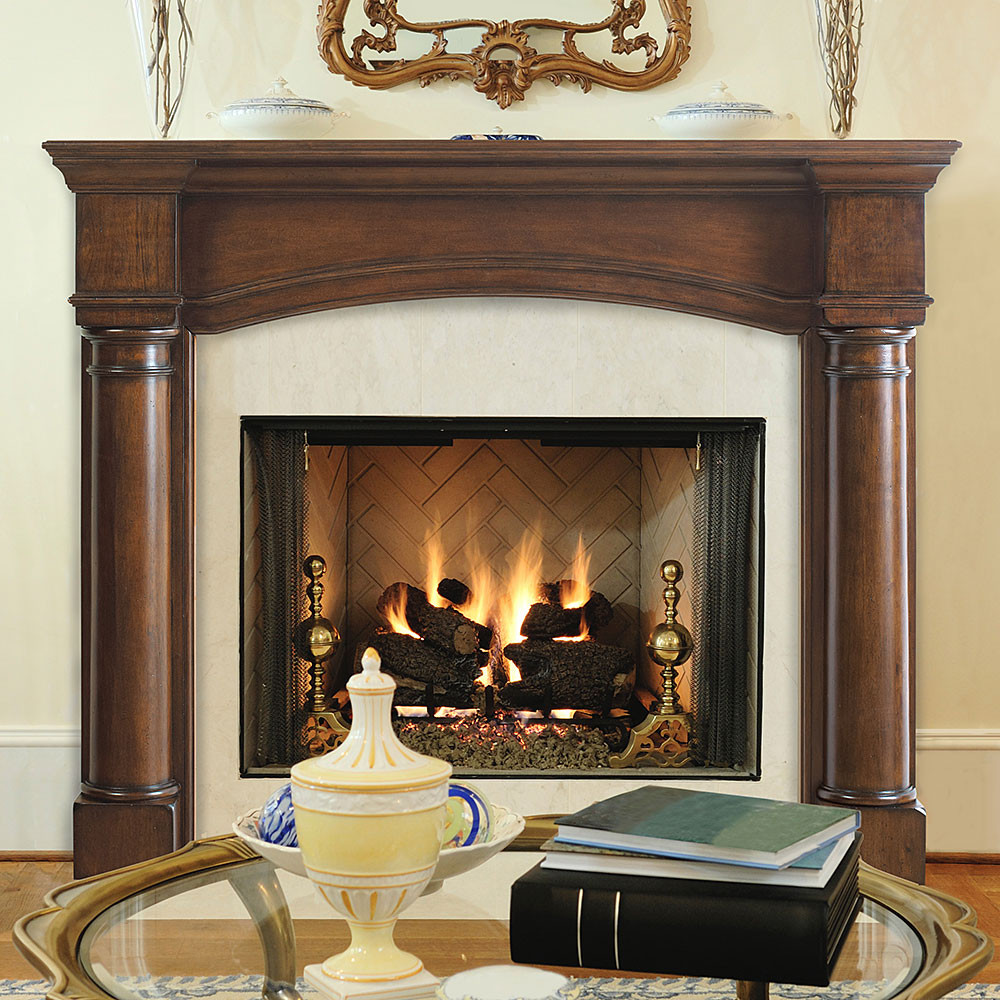Best ideas about Wood Fireplace Mantels . Save or Pin Edinburgh 48 In x 42 In Wood Fireplace Mantel Surround Now.