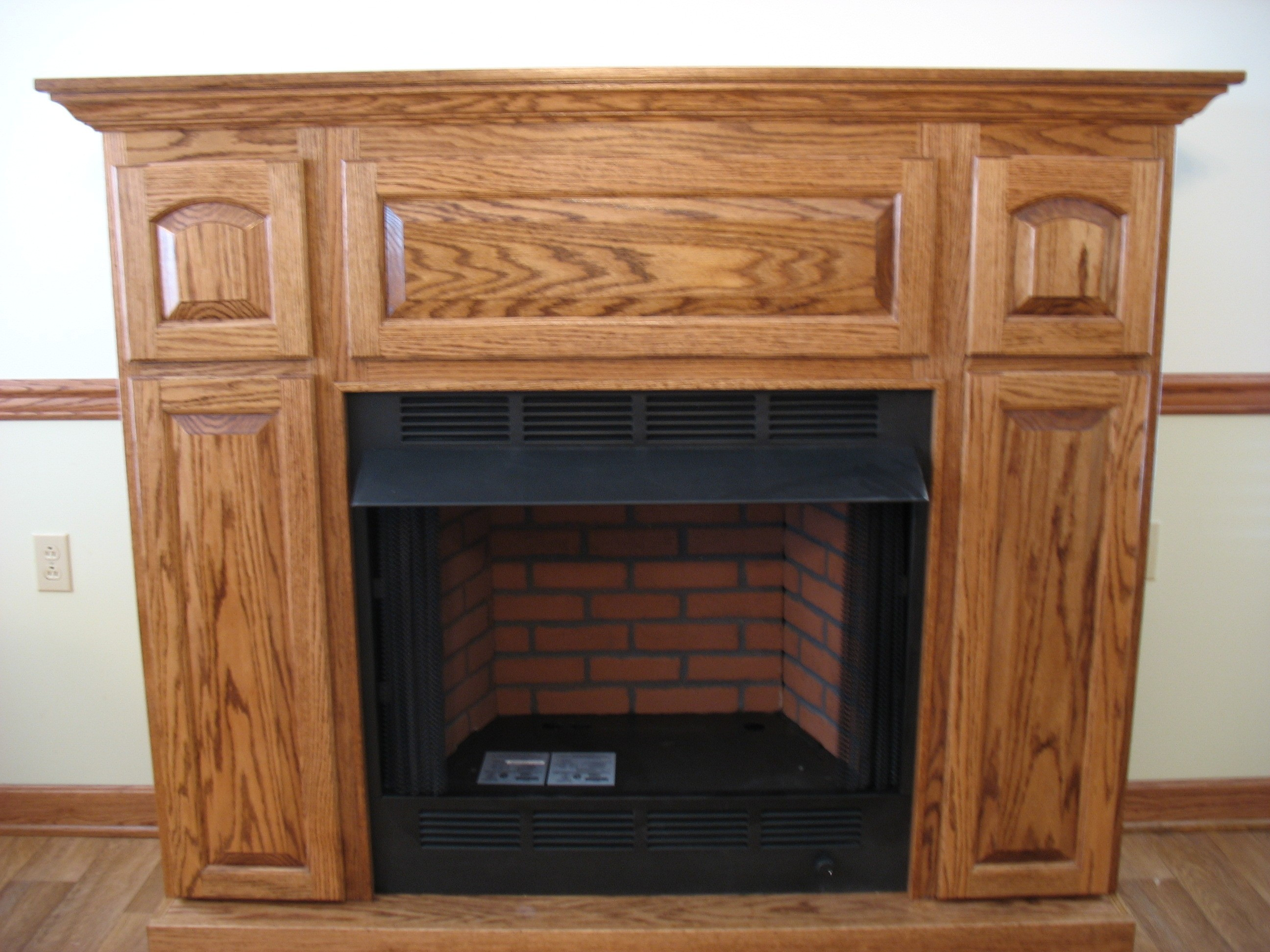 Best ideas about Wood Fireplace Mantels . Save or Pin Gloosed Wooden Fireplace Mantel Mixed Indoor French Doors Now.