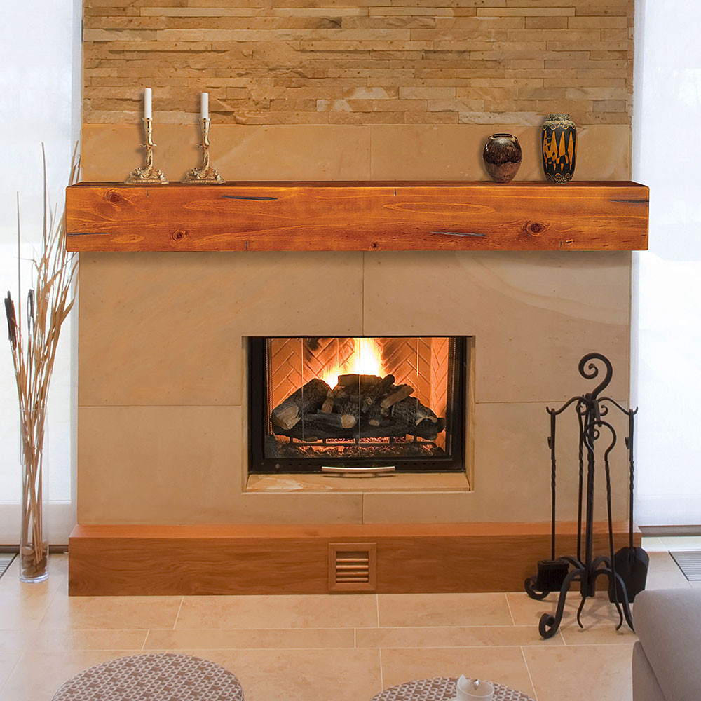 Best ideas about Wood Fireplace Mantels . Save or Pin Lincoln 72 Inch Wood Fireplace Mantel Shelf Now.