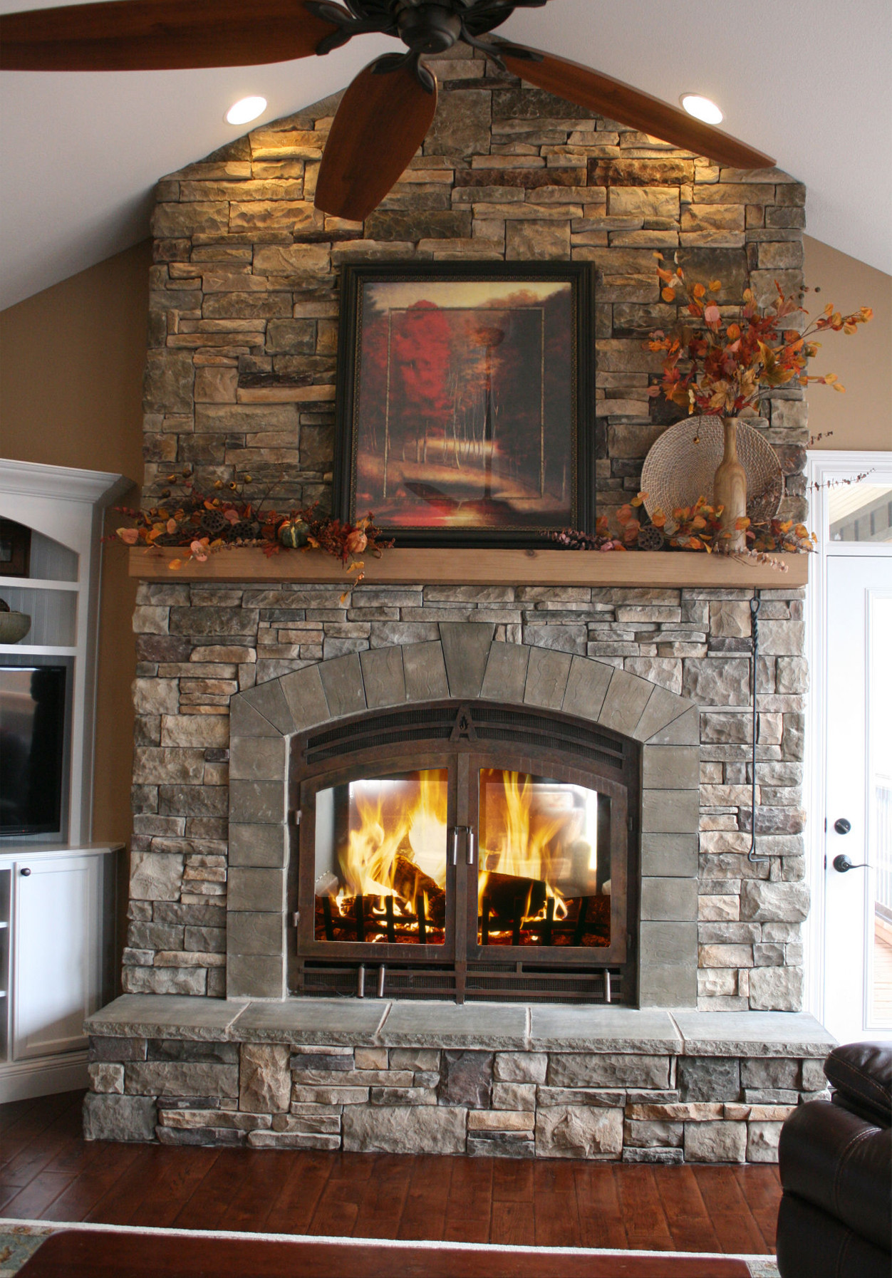 Best ideas about Wood For Fireplace . Save or Pin Indoor Outdoor Wood Fireplace Now.