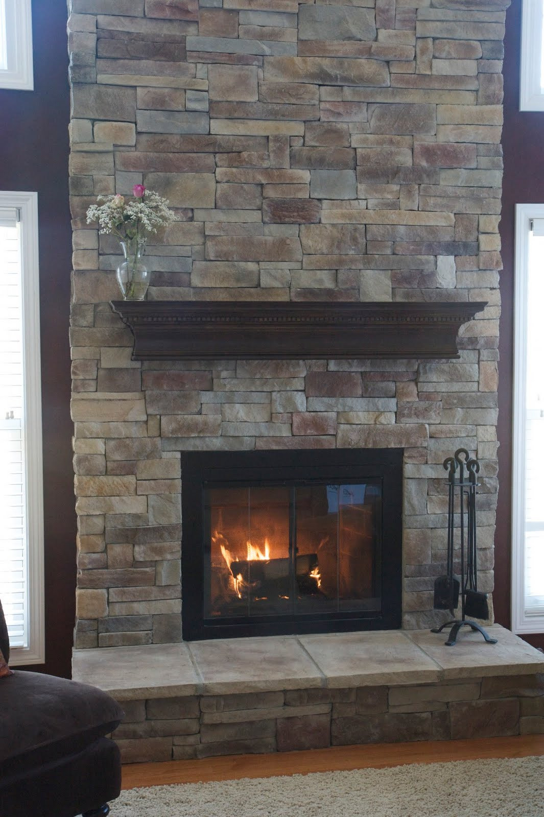 Best ideas about Wood For Fireplace . Save or Pin Stone Fireplace Mantels with Chimney Traba Homes Now.