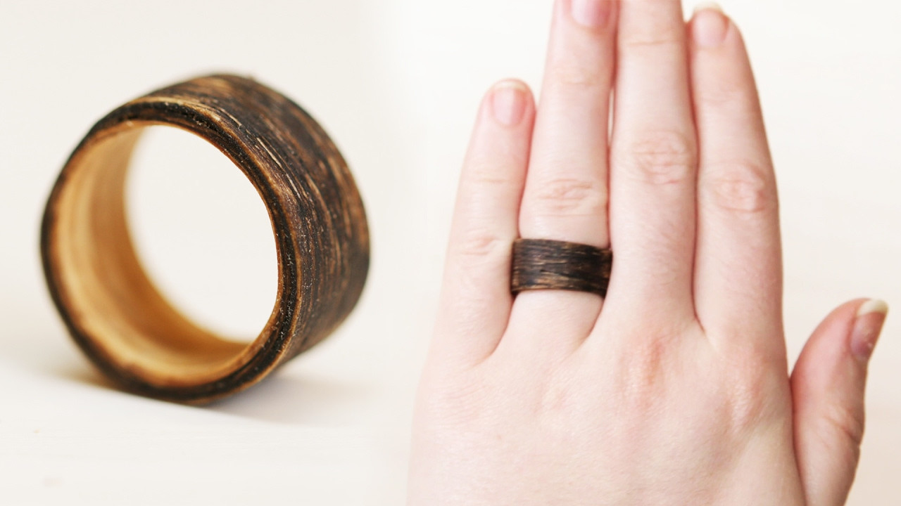 Best ideas about Wood Ring DIY . Save or Pin DIY Two Tone Wooden Ring Now.