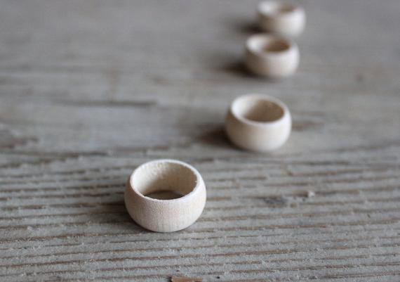 Best ideas about Wood Ring DIY . Save or Pin Unfinished Wood Ring DIY Jewelry set of 5 Wood Rings Now.