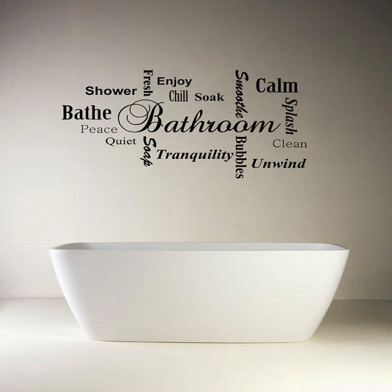 Best ideas about Words On Bathroom Walls . Save or Pin 1 2 Bath Word Wall Quotes QuotesGram Now.