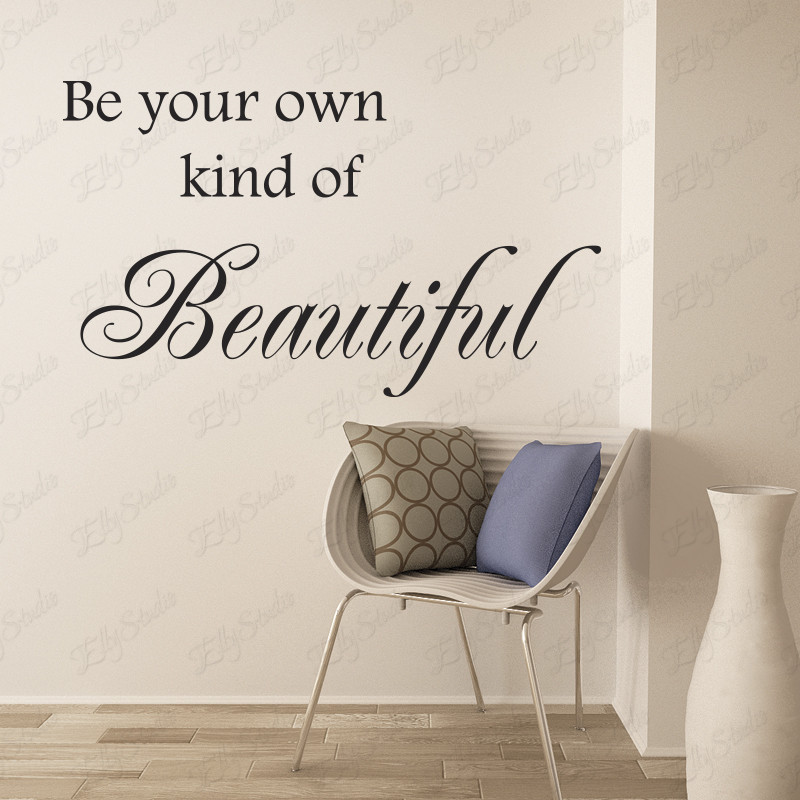 Best ideas about Words On Bathroom Walls . Save or Pin Be Your Own Kind Beautiful Wall Decal Wall Quote Now.