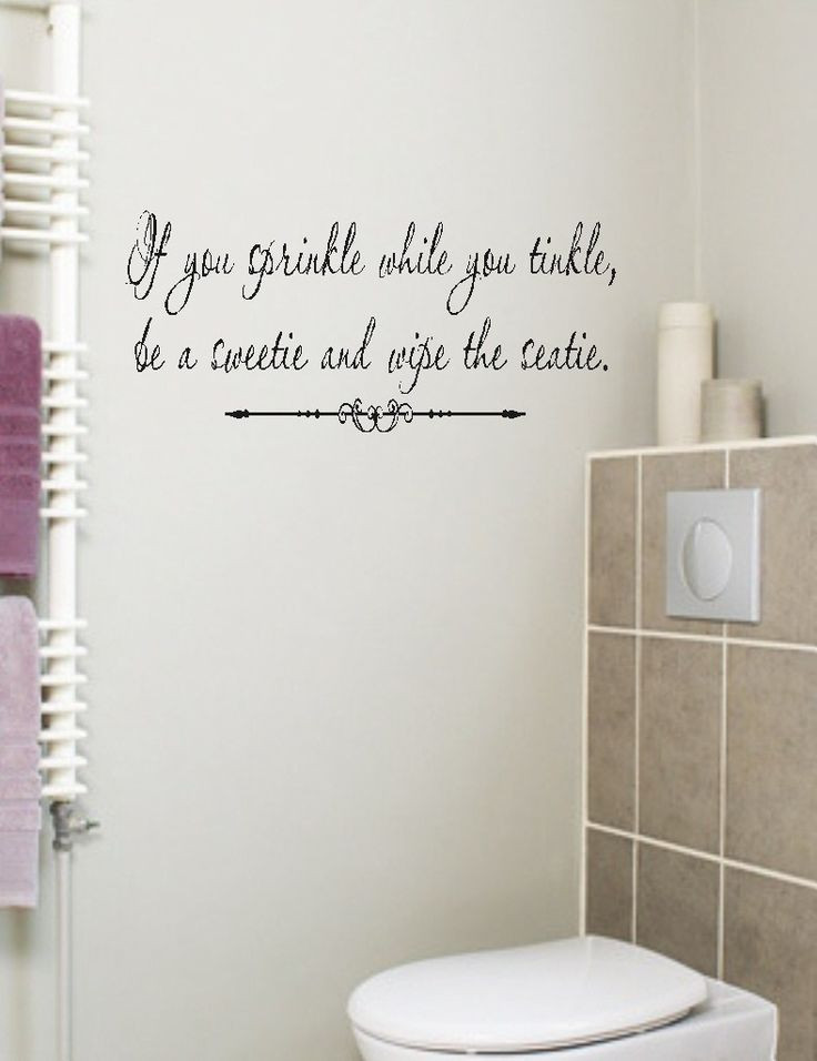 Best ideas about Words On Bathroom Walls . Save or Pin If you sprinkle Bathroom Quote Wall Decal Words Lettering Now.