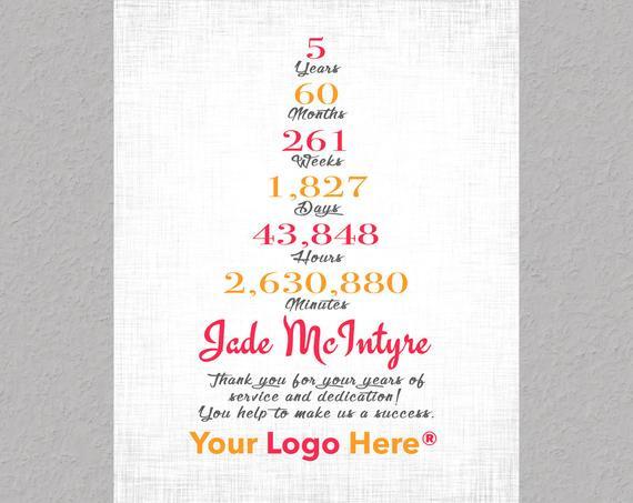 Work Anniversary Gift Ideas  5 Year Anniversary Gift 20 Year Work Anniversary Gift